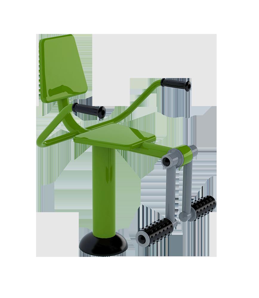 Plac street workout - podnosiciel nóg